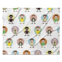"""Juan Paolo """"The Stages of Walter White"""" Breaking Bad Fleece Throw Blanket"""