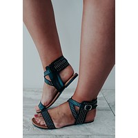 Simply Daring Sandals: Black/Multi