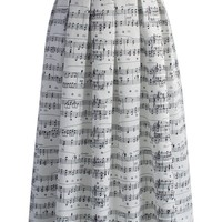 Dance with Music Notes Maxi Skirt
