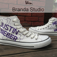 Fans Style Justin Bieber Shoes.Studio Hand Painted Shoes 49.99Usd-Paint On Custom Converse Shoes Only 89Usd,Buy One Get One Phone Case Free