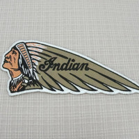 Iron on patch. Indian Wing motorcycle patch