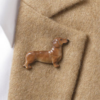 Pewter Dog Pins / Hand-Painted Pewter Dog Breed Pins -- Orvis