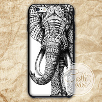 Ornate Elephant iPhone 4/4S, 5/5S, 5C Series, Samsung Galaxy S3, Samsung Galaxy S4, Samsung Galaxy S5 - Hard Plastic, Rubber Case