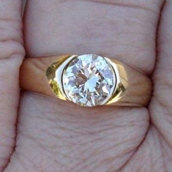 GIA Certified 1 Carat Internally Flawless Diamond Solitaire Ring - 14K Yellow Gold by Luxinelle® Jewelry