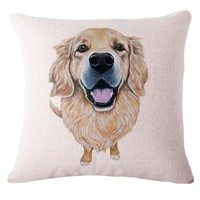 Cute Pets - Dog Pattern Decorative Pillow Covers (30 styles)