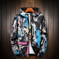 Trendy Spring Autumn Jackets Men Fashion Military Tactival Graffiti Hooded Windbreaker Puls Size S-8XL AT_94_13