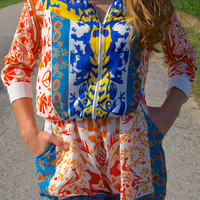 She's A Believer Romper: Multi