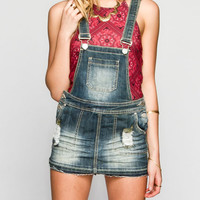 Almost Famous Womens Denim Skirt-All Medium Blast  In Sizes