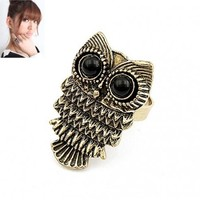 FREE SHIPPING Fashion Retro Owl Ring 10031321 from GowithGalaxy