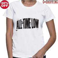 All Time Low  Shirts women  Tee Shirt All Time Low  Shirt Popular Band  TShirt Long women T Shirts
