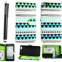 Thinkcase iPhone 4 4G 4S New tribal Design stand PU Leather Wallet Case With Card Holder for iPhone 4 4G 4S