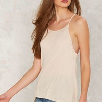 Without a Sound Ribbed Tank - Beige