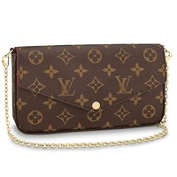 Bags Forest Womens Monogram Canvas Purse Cross Body Bag with Small Chain