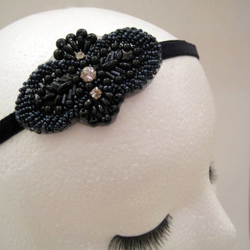The Alice - Great Gatsby headband, 1920s headpiece, flapper headband, art deco headpiece, Downton Abbey, Boardwalk Empire style
