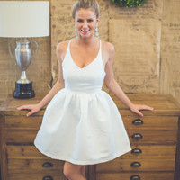 Twirl On Dress in Ivory