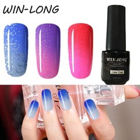 Temperature Change Color Gel Nail Polish 7ml Semi-permanent Soak Off Hybrid Gel Lacquer Thermo Lucky UV Gel Varnishes
