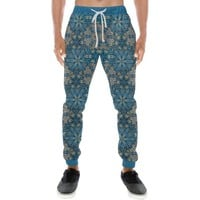 Embroidered Design 1 Men's All Over Print Casual Jogger Pants