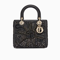 Lady Dior bag in embroidered calfskin - Dior