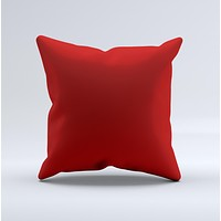 Solid Dark Red  Ink-Fuzed Decorative Throw Pillow