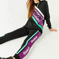 Fashion Online Reebok Black Striped Sweatpant