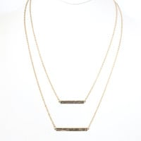 Pass The Bar Layered Necklace In Gold