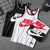 NIKE Summer Popular Men Casual Print Sport Mesh Sleeveless Vest Top T-Shirt