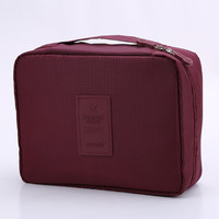 Burgundy Outdoor Travel Camping Wash Cosmetic Bag