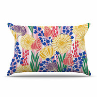"Amy Reber ""Pretty Bouquet"" Yellow Floral Pillow Sham"