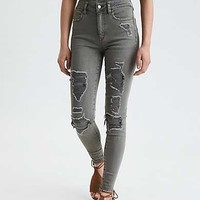AE Denim X Super High-Waisted Jegging, Dusty Sage