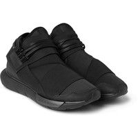 Y-3 - Qasa Leather-Trimmed Neoprene High-Top Sneakers | MR PORTER