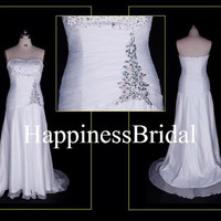 2013 New Arrival Aline Sweep Train Sweetheart by HappinessBridal