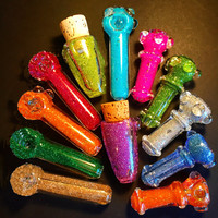 Glitter Pipes, Chillums and Stash Jars