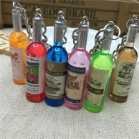 Resin Wine Bottle Keychain