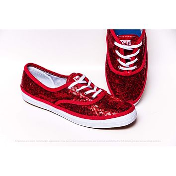 Red Starlight Sequin Keds® Sneakers