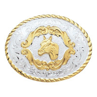 Montana Silversmiths Small Horse Head Western Belt Buckle - 5000HH