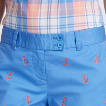 Anchor Embroidered Dayboat Shorts