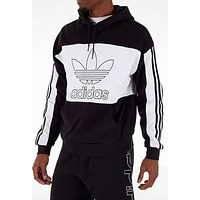 Adidas Men's Originals Spirit Outline Block Black White Hoodie DY6648