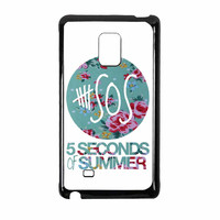 5 Seconds Of Summer Floral Pink Samsung Galaxy Note Edge Case