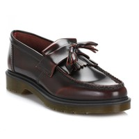 Dr. Martens Mens Cherry Red Adrian Leather Loafers