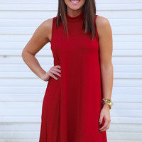 Phoebe Shift Dress {Red}