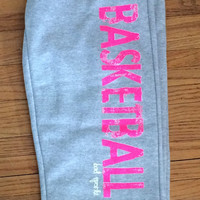 BASKETBALL Sweatpants in Gray/Pink