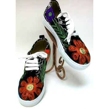 Suzani Embroidered Tennis Shoes