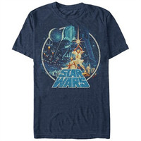 Star Wars Luke Leia Poster T-Shirt