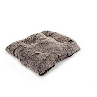 Square Pillow Bed — Frosted Chocolate Shag