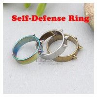 New Tactical Self-Defense Ring Men/Women Portable Self-Defense Weapons Outdoor Survival Emergency Glass Breaker Punk Rings