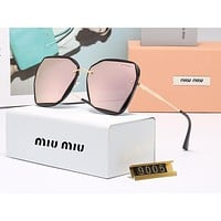 MIU MIU fashion matching color large frame polarized sunglasses popular casual women sunglasses