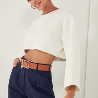 Silence + Noise Roll-Neck Cropped Sweater | Urban Outfitters