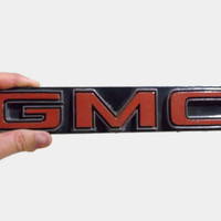 large GMC emblem, gift for him, fathers day, rustic garage decor