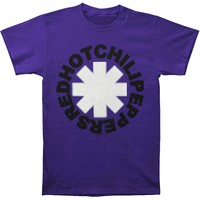 Red Hot Chili Peppers Men's  Pixel Peppers T-shirt Purple