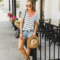 """The """"Earn Your Stripes"""" Striped Tee"""